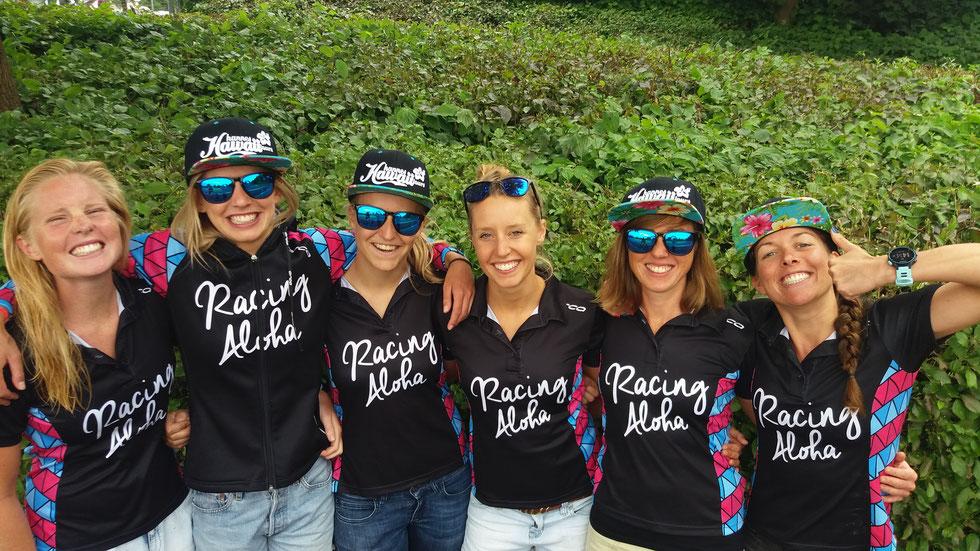 Unsere Erbach Queens von links: Hannah (olympische Distanz), Ida, Mareike, Kathi (alle Liga), Ines (Sprintdistanz) und Tami (ebenfals Liga)