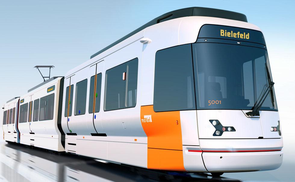 Produkt Design 3D Visualisierung, Straßenbahn Bielefeld