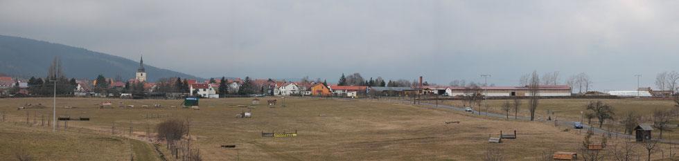 Blick auf Crawinkel aus Richung Pfennhügel am 19.02.2014