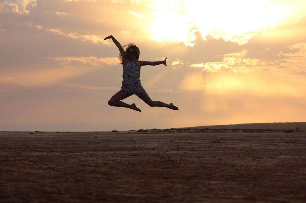 Wer zum ersten mal auf seinen Knochen steht fühlt sich oft so leicht als könne er losfliegen