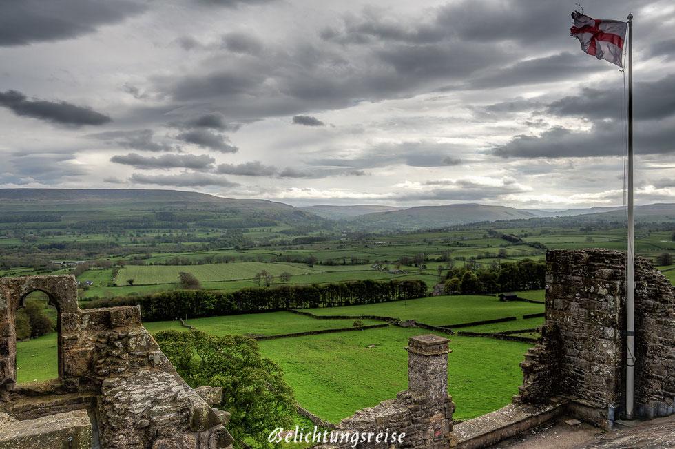 England, Nationalpark, Yorkshire Dales, Yorkshire, Dales, Landschaft, Autotour, Tour, Burg, Castel, Ruine
