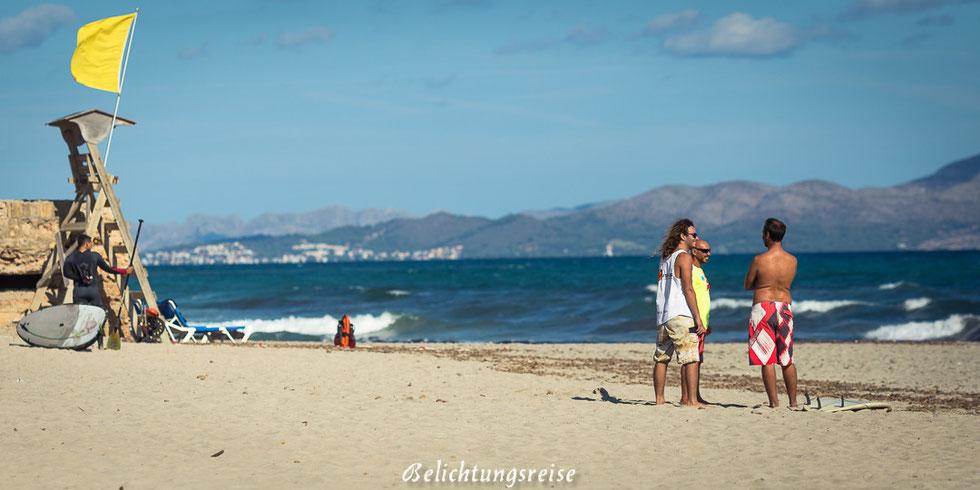 Mallorca, Strand, Surfen, Kiten, Wellenreiten, Windsurfen, Bar, Son Serra, Son Serra de Marina, Wellensurfen, Wasser