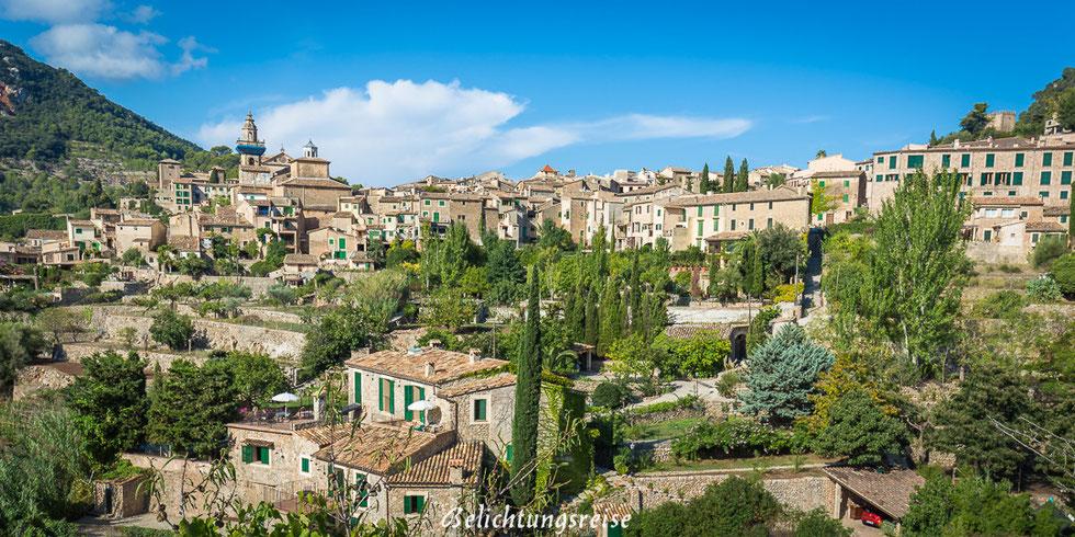 Mallorca, Aussichtspunkt, Aussicht, Häuser, Valldemossa, Autotour, Kirche, Panorama