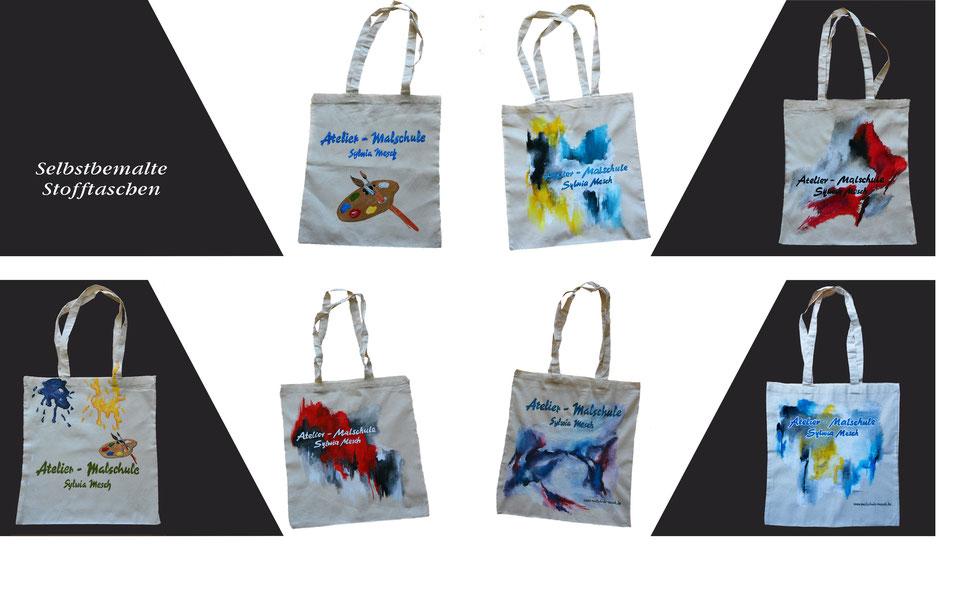 Stofftaschen selbst gemalt