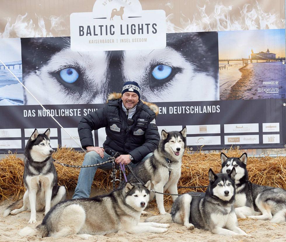 Premiere des  nördlichsten Schlittenhunderennen Deutschlands auf der Insel Usedom.    Foto: Karsten Diedrich