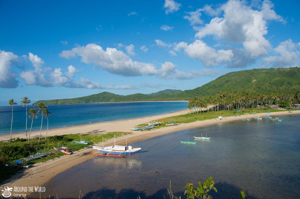 Nacpan-Calitang Twin Beach el nido palawan|aroundtheworldstepbystep.com