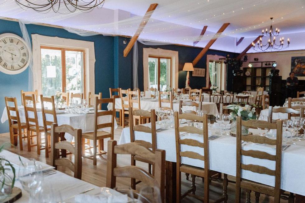 Nouvelle version de la salle de restaurant - 2021 - Les Lavandières de Fontaine