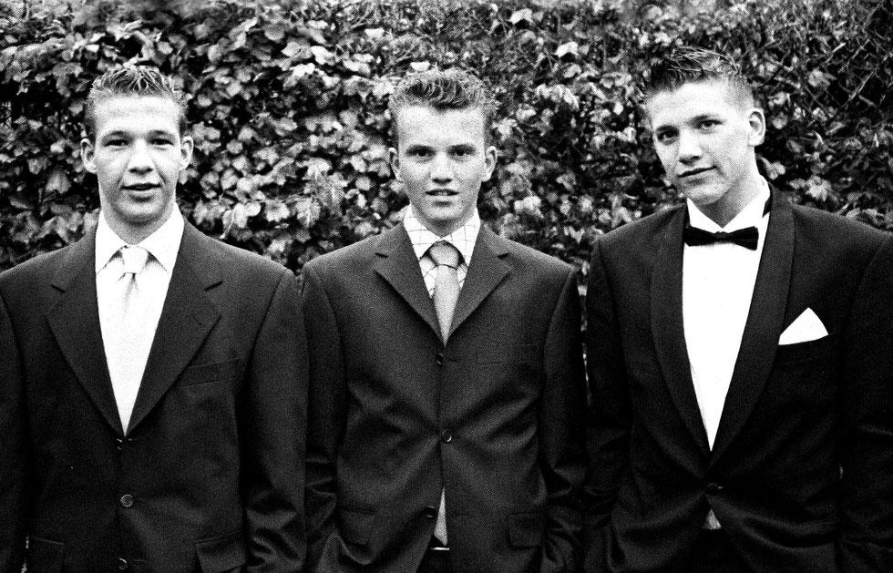 Schoolparty, Danny, Jens, Jeroen 2004
