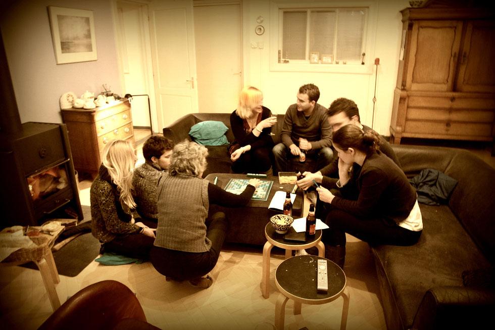 Scrabble, Eline, Jort, Katinka, Nienke, Jens, Tijs and Sylke, Westervelde  december 2011