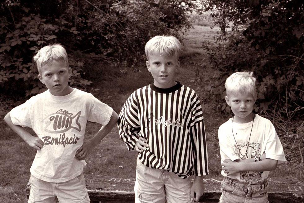 Three brothers, Tijs, Jens, Jort 1998