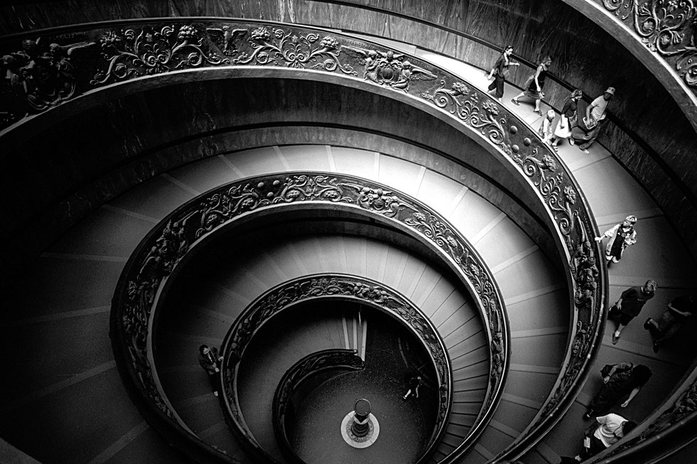 Stairs in the Vatican, Rome  Jort, Tijs and Jens  2000