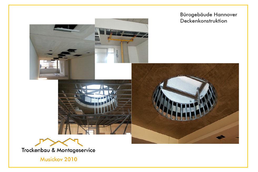 musickov-bau.de Bürogebäude Hannover Deckenkonstruktion