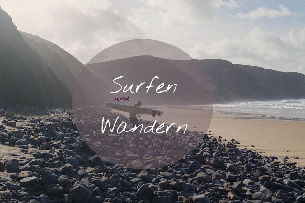 Costa Vicentina: Surfen und Wandern. Arrifana Beach.