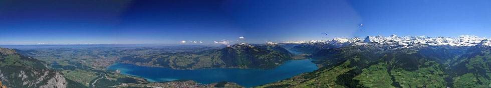 Aussicht vom Niesen view from Niesen Thunersee lake of Thun panorama
