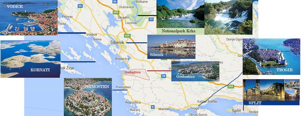 Zur Übersicht noch mal eine Karte mit den interessanten Punkten in der Region!