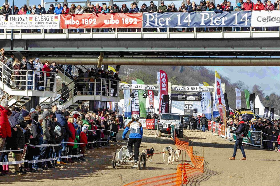 Tausende von Zuschauern verfolgen die spannenden Rennen im Start/Zielbereich an der Heringsdorfer Seebrücke.  Foto: Expiarts Entertainment- Stefan Stuhr