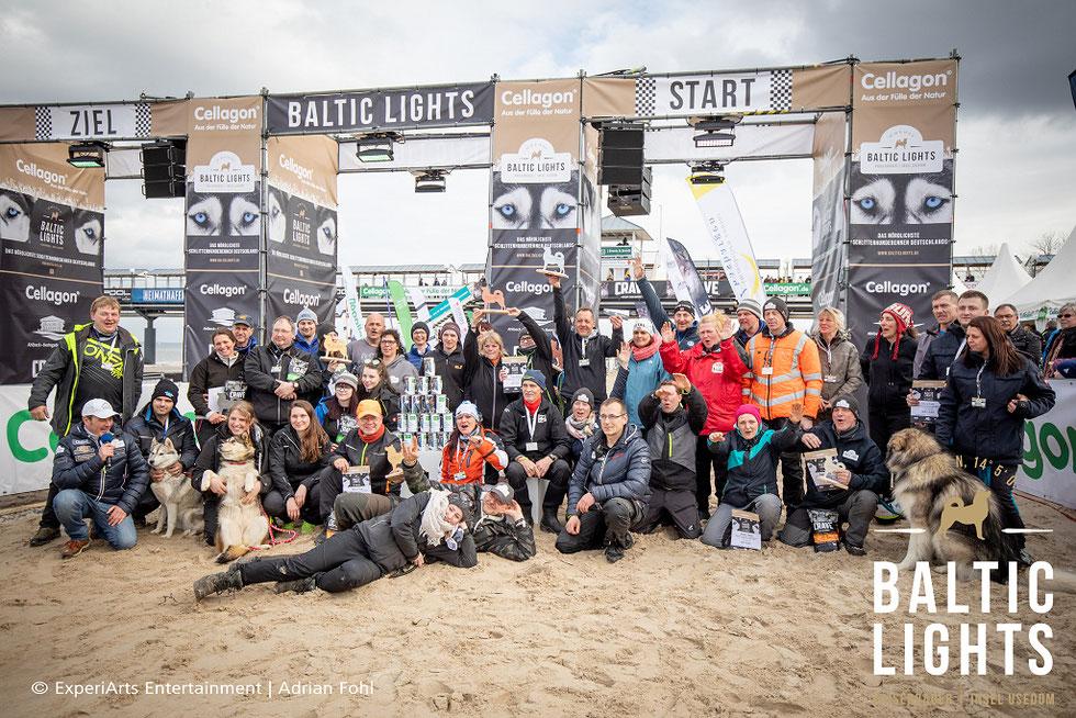 Siegerehrung der BALTIC LIGHTS Musher 2017 mit Spendenübergabe an die Welthungerhilfe.           Foto: Eperiarts Entertainment - Franziska Krug