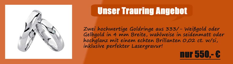 Trauring Ehering Angebot Reduziert Goldring Aktion