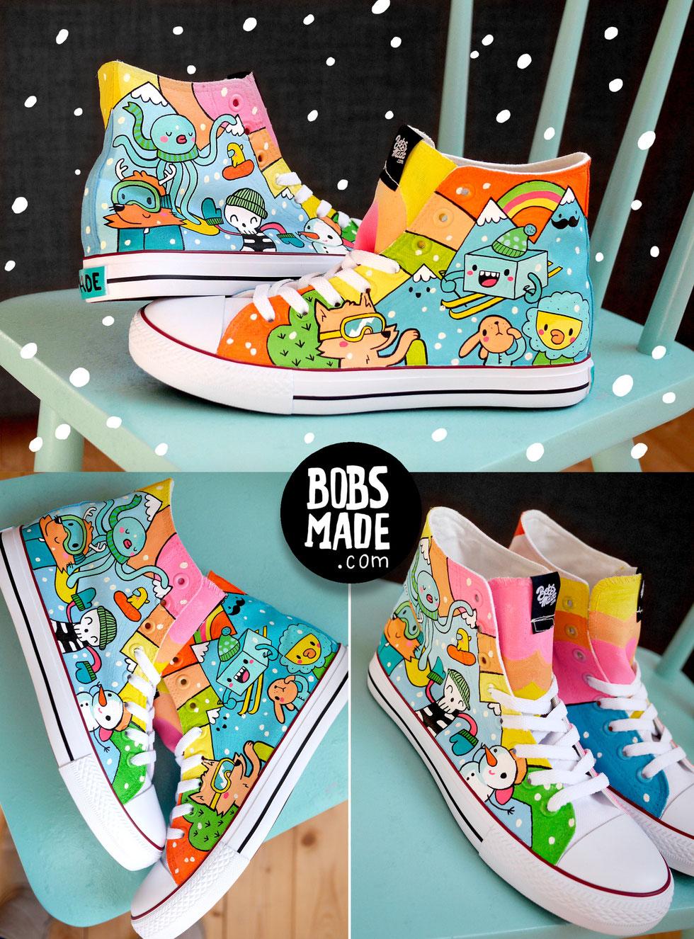 Winter custom Chucks Bobsmade