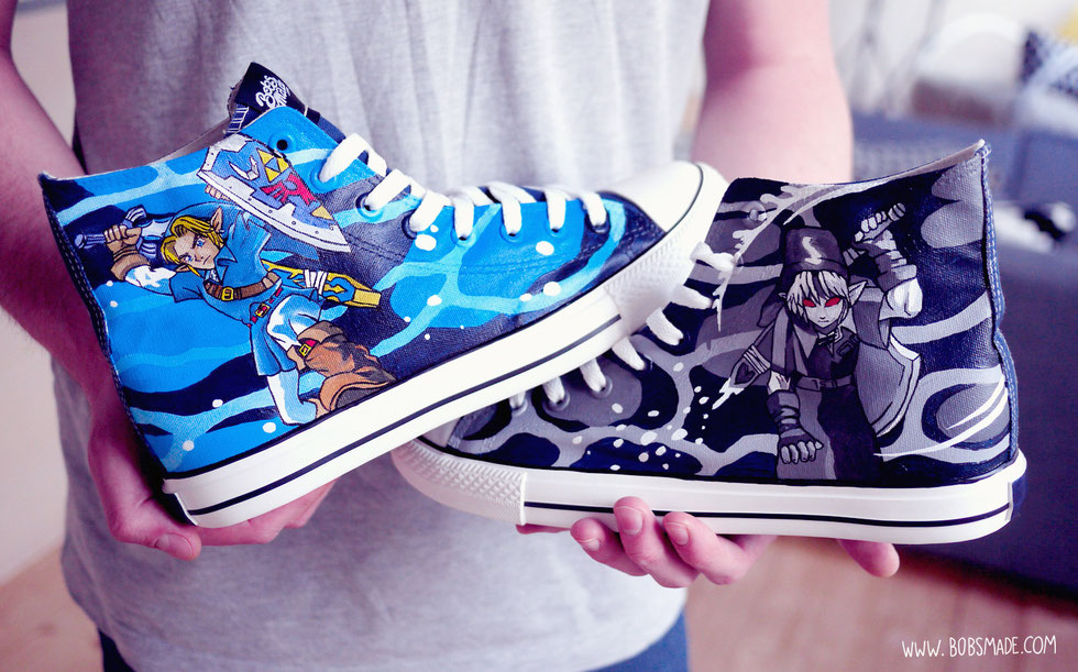 Dark Link Chucks by Bobsmade