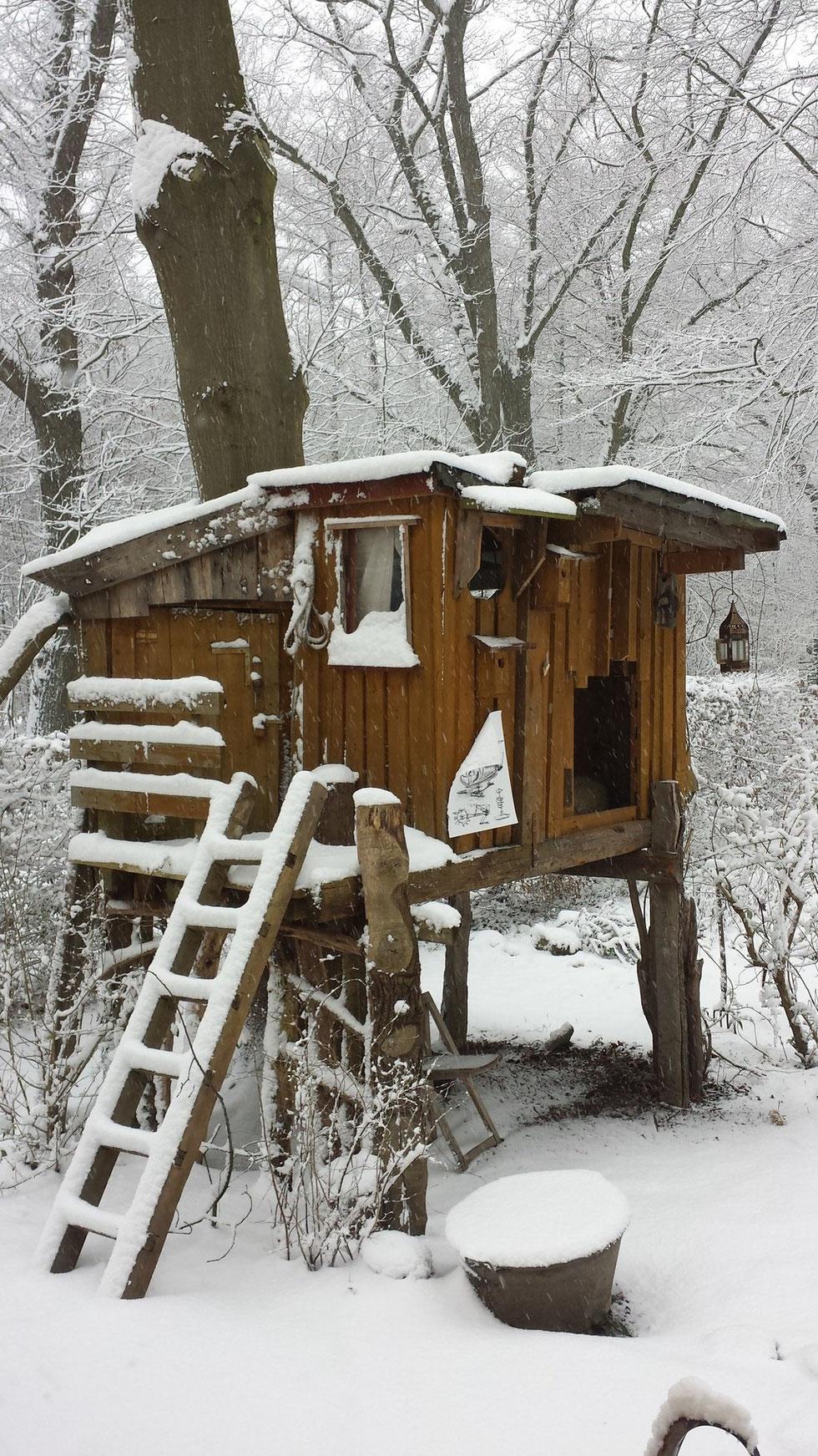 roter fuchs Atelier am Wald Vater Sohn Projekt Baumhaus bauen Krefeld