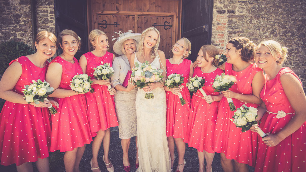 bride-bridesmaids-north-devon-wedding-photography