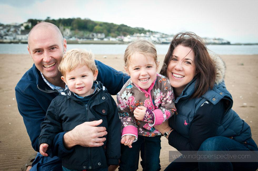 natural family portrait on Instow beach, north devon
