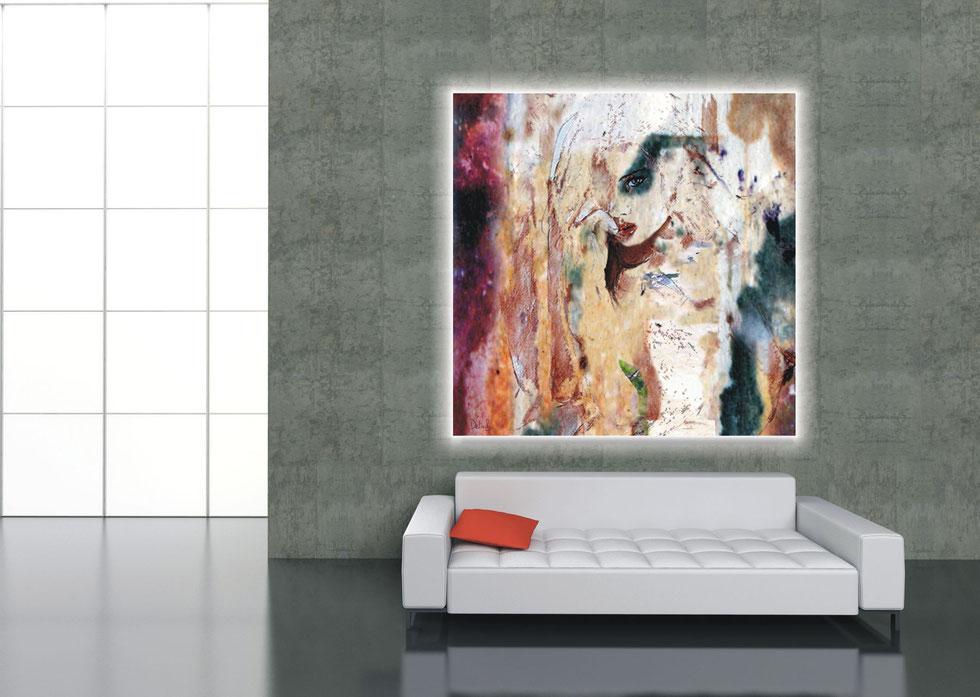 Druck auf Aluminiumplatte mit Hintergrundbeleuchtung - Format 180 x 180 cm