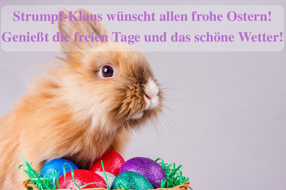 Bild: Frohe Ostern, Strumpf-Klaus