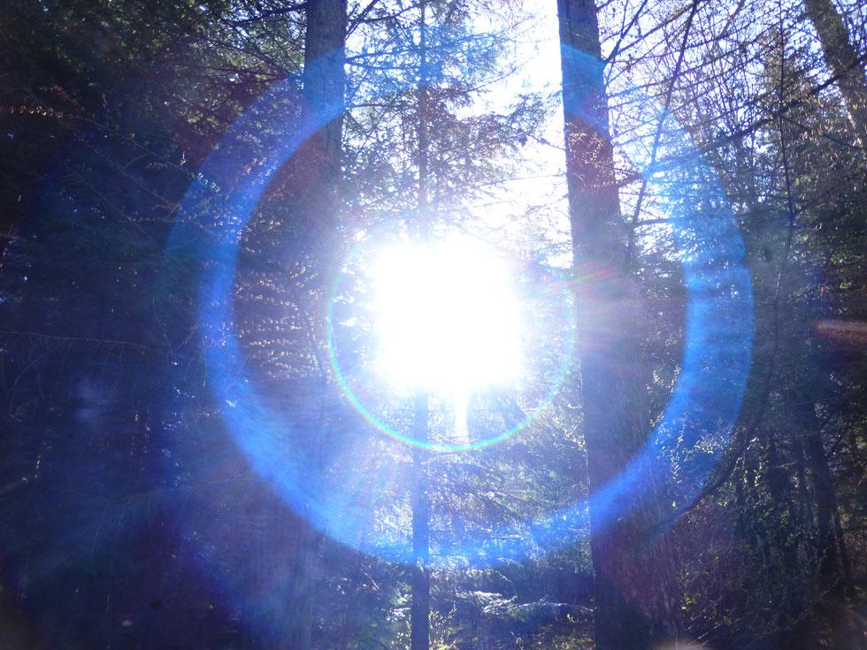 Blaues Lichtportal am 27.04.2021, Quelle: www.lichtwesenfotografie.com