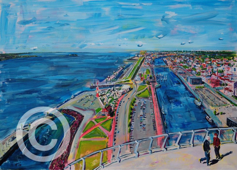 Bremerhaven/ Acryl auf Leinwand/ 150 cm x 130 cm