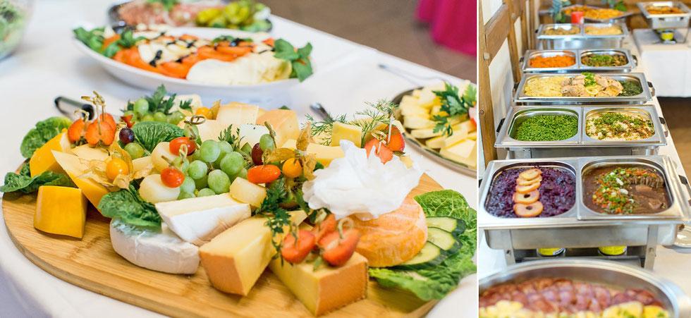 buffet hochzeit, essen hochzeit, scheuen großrückerswalde speisen