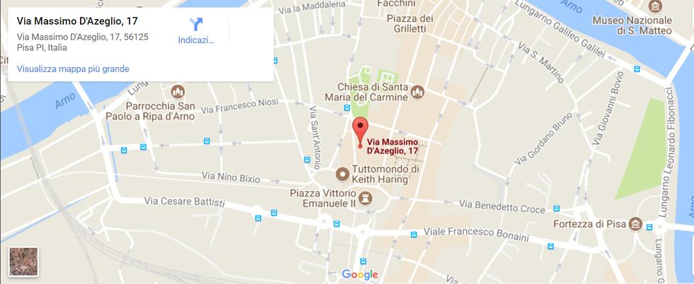 Mappa Ristorante Indiano Gandhi Pisa
