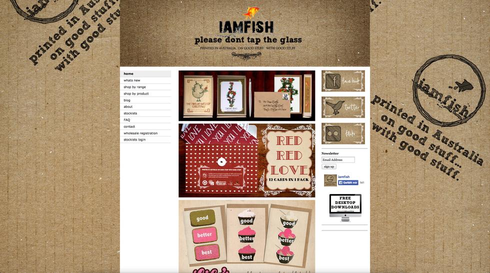 Site de Design: http://www.iamfish.com.au/