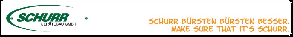 Schurr Logo Schurr Bürsten bürsten besser Make sure that it's Schurr.