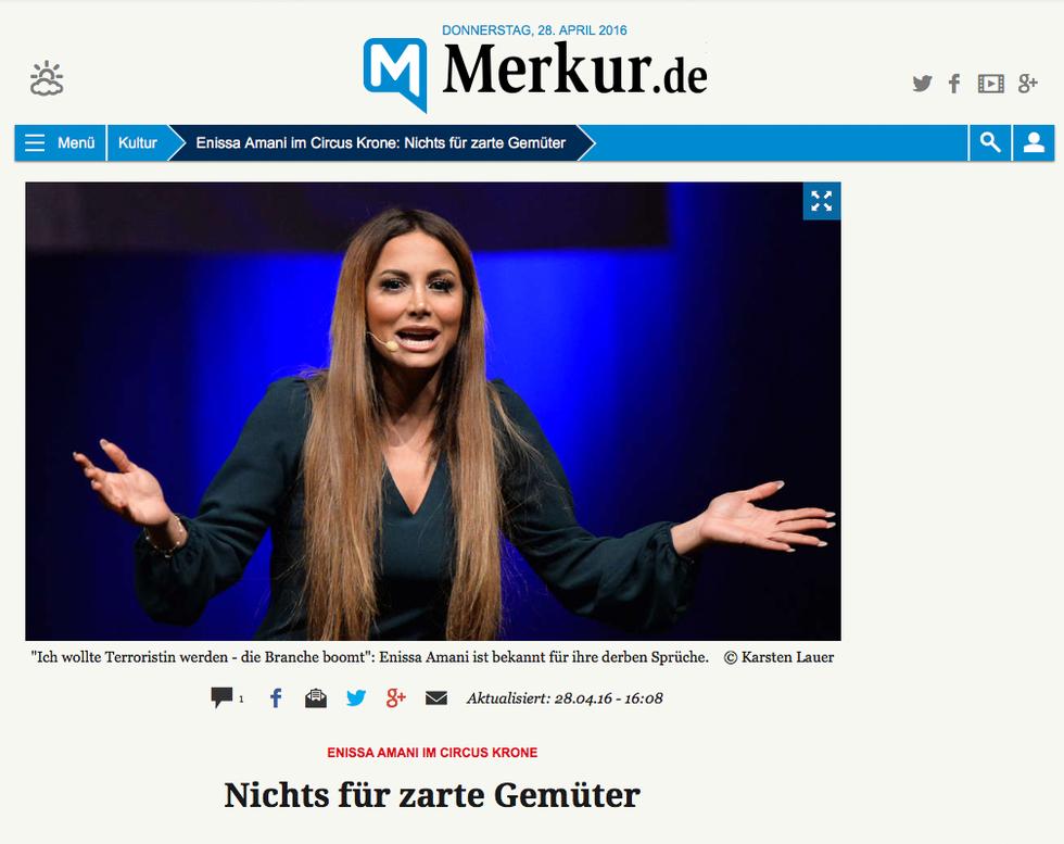 Bericht auf Merkur.de