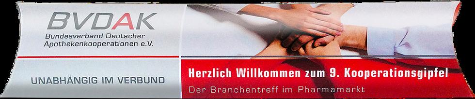 Ausgefallener Werbeartikel für den Apotheken Verband BVDAK