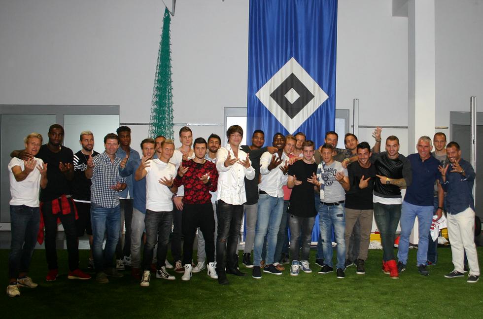 Zauberer Hamburg mit dem HSV Bundesliga - Team