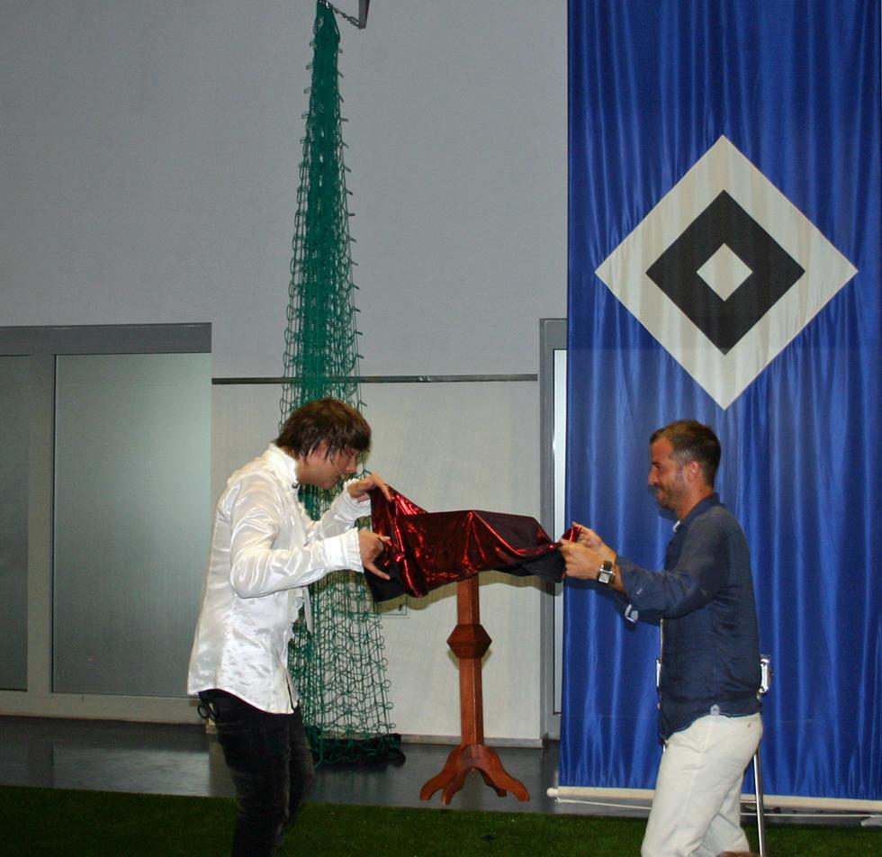Zauberer Hamburg mit Rafael van der Vaart