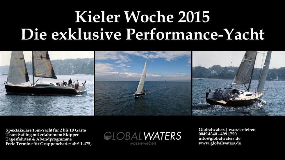 Performance-YAcht zur Kieler Woche mit Globalwaters