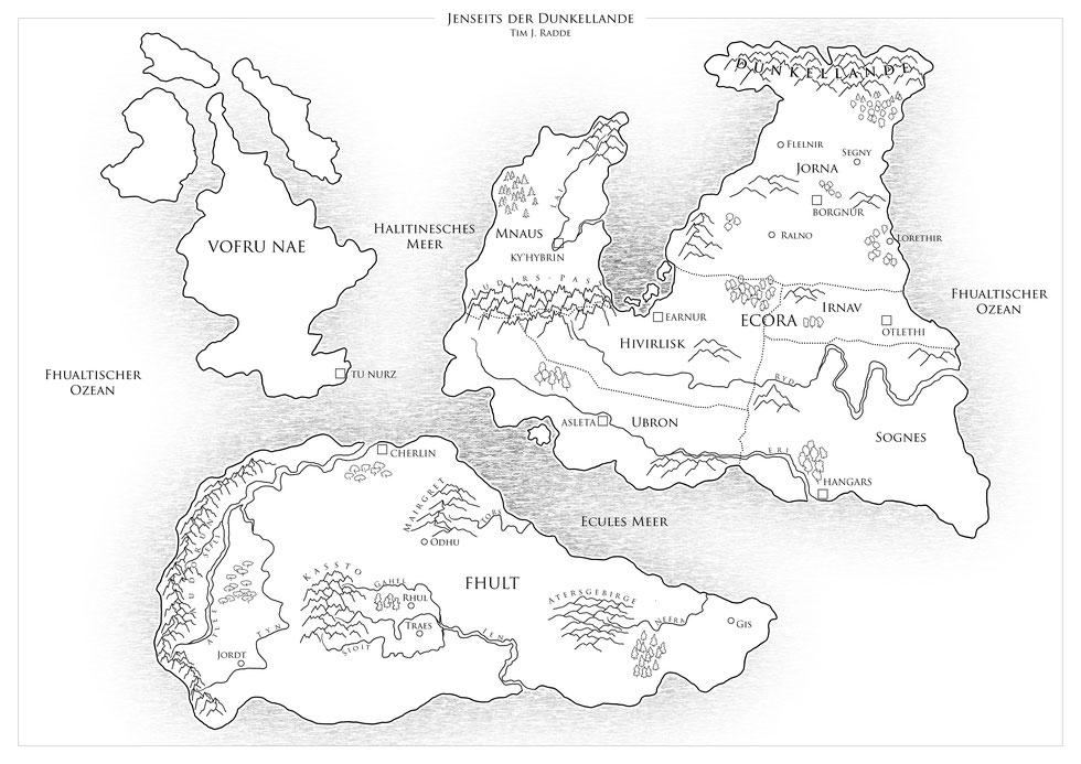 """Die Karte der Welt aus """"Jenseits der Dunkellande"""""""