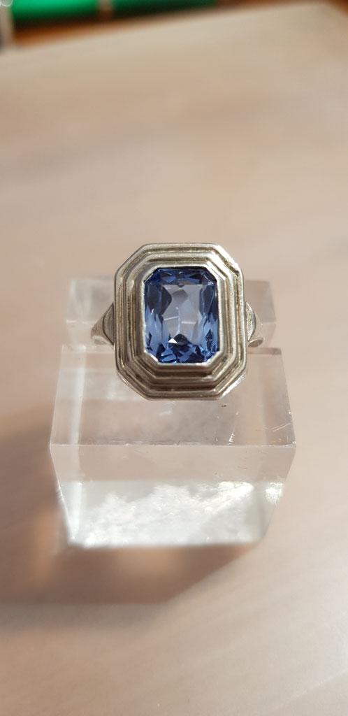 Blau Topas Ring 4 Silber