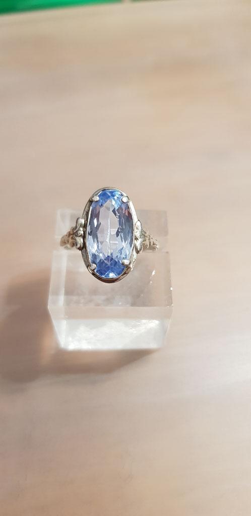 Blau Topas Ring 2 Silber