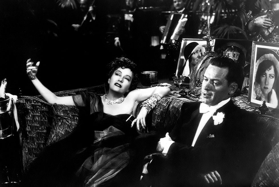 "Gloria Swanson e William Holden in ""Viale del tramonto"" di Billy Wilder"