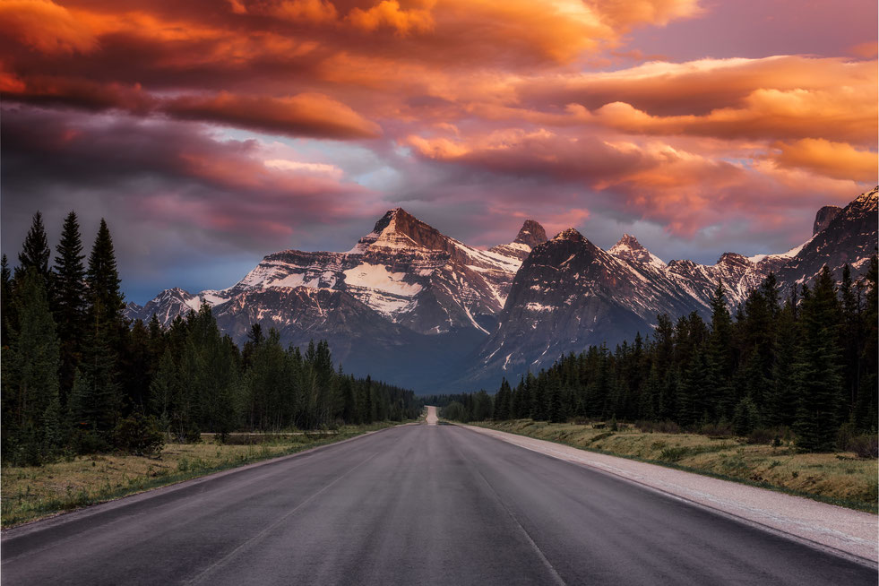 Mount Christie. Best photography spots in Jasper National Park