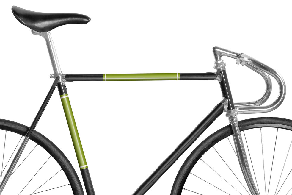 Fahrrad reflektierende Folie Grasgrün