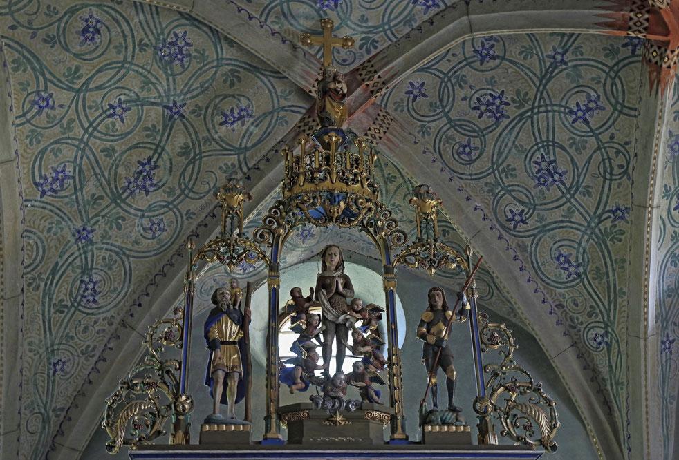 Die Bekrönung des Altaraufsatzes