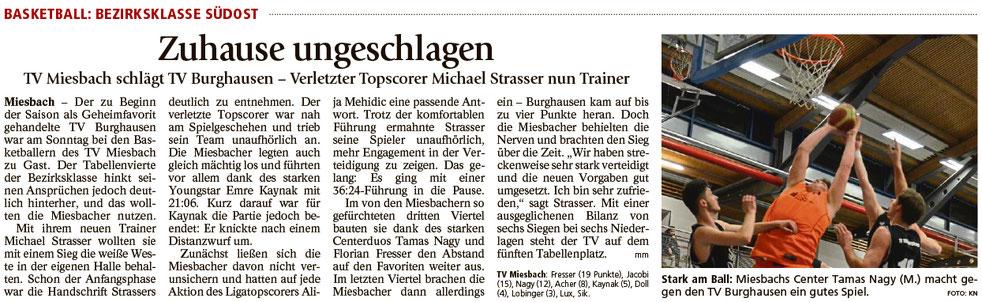 Bericht im Miesbacher Merkur am 31.1.2017 - Zum Vergrößern klicken