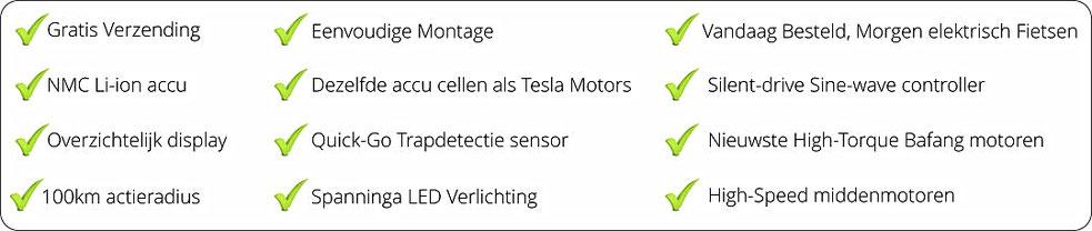 Voordelen ombouwset ebike kit Fiets Ombouwcentrum Nederland