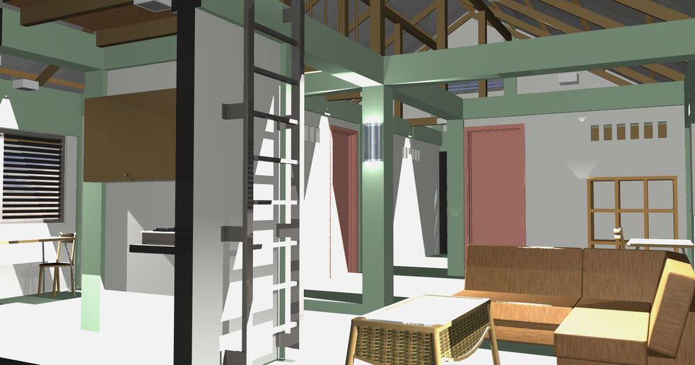 Fotoanimation eines Wohnraum